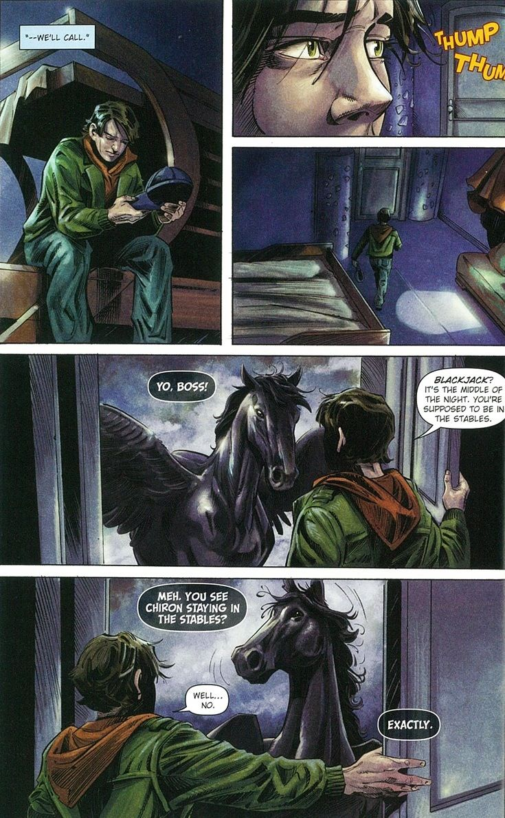 Percy Jackson graphic novel. Blackjack is sassier than ...