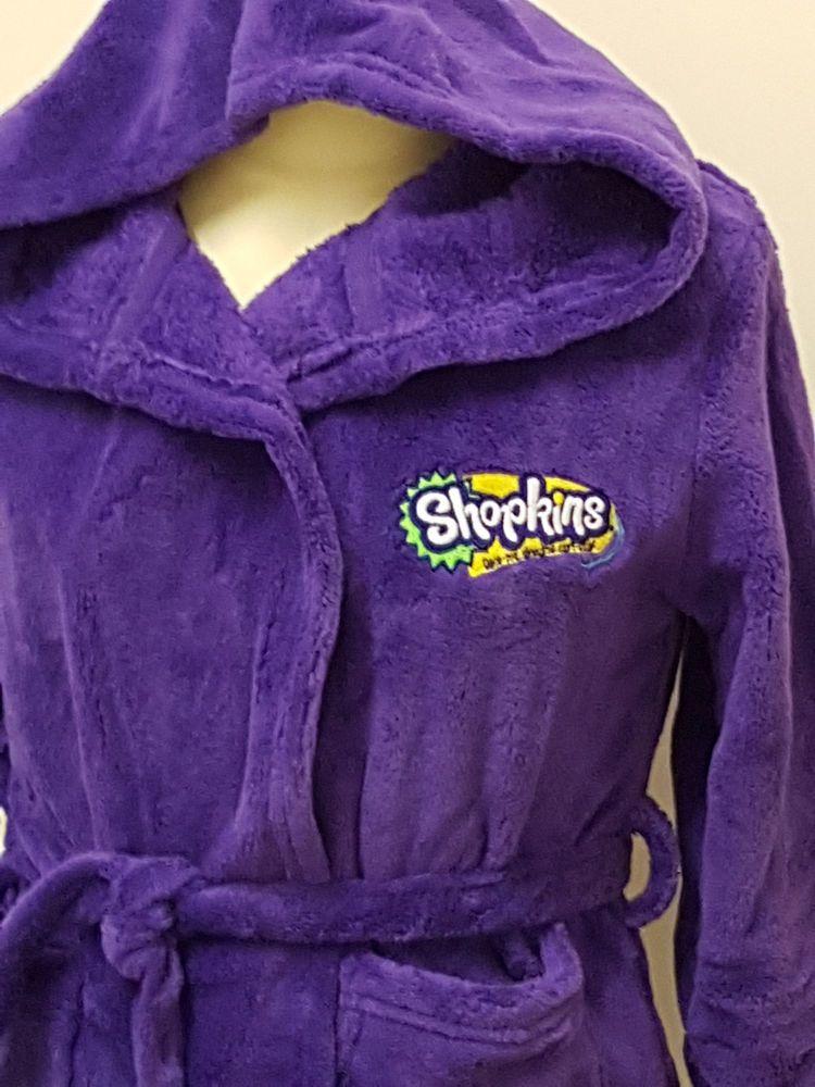 Girls Shopkins logo dressing gown Personalised Name Xmas Santa Gift ...