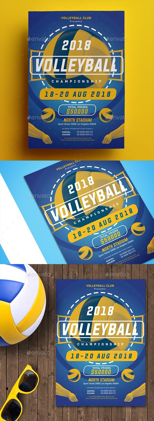Volleyball Championship Flyer Volleyball Flyer Event Logo