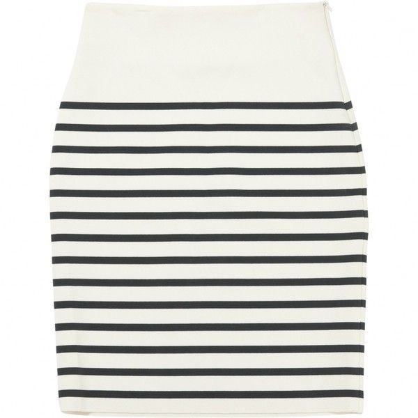 STRIPED SKIRT BRUUNS BAZAAR (496785 PYG) ❤ liked on Polyvore featuring skirts, bottoms, bruuns bazaar, stripe skirts and striped skirts