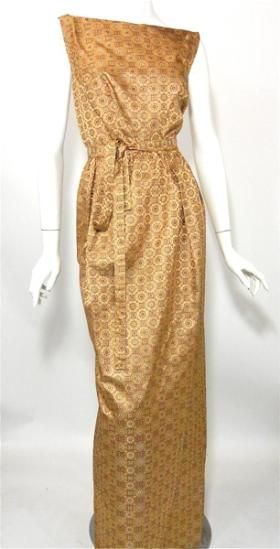 60s gown vintage gown custom made, worn to White House during Johnson administration