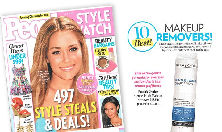 Paula's Choice Gentle Touch Makeup Remover, People Magazine - May 2012