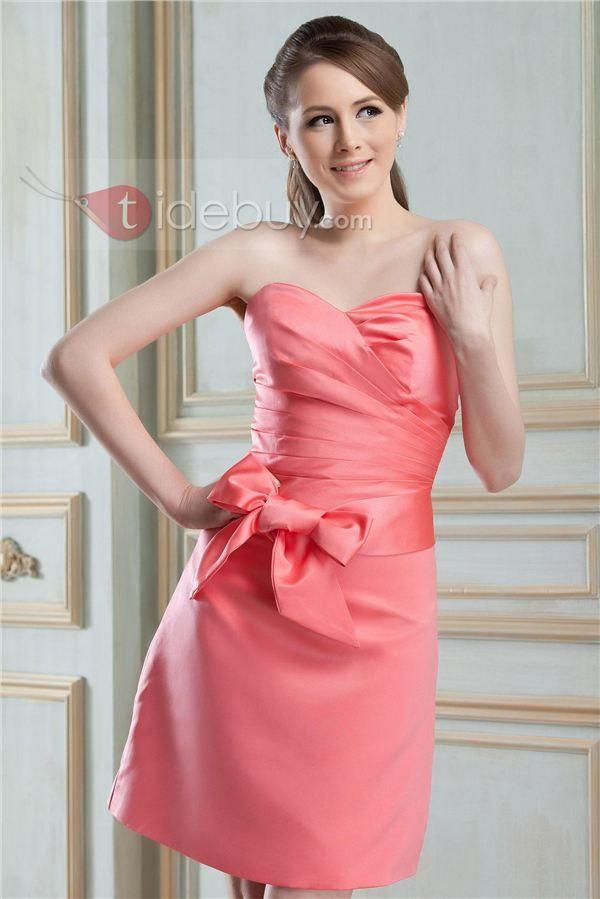 Julieta - Vestido Dama de Honor Silueta Línea A con Escote corazón ...