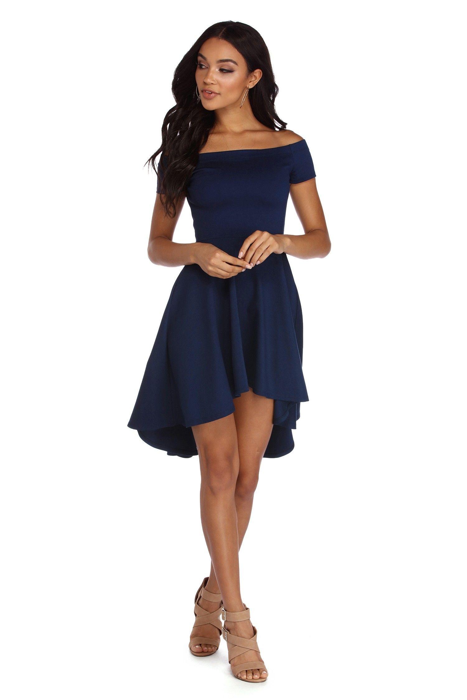 Navy Blue All The Rage Skater Dress Dresses Ball Gowns Skater Style Dress [ 2247 x 1500 Pixel ]