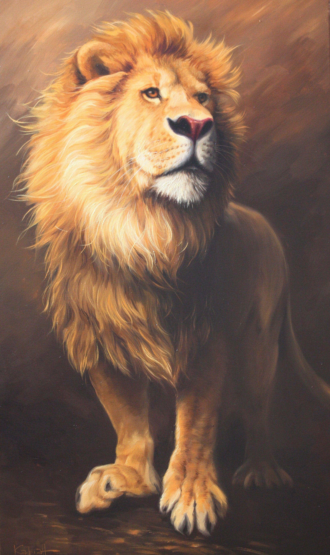 Best Lion Painting Wild Lion Lion Art Large Lion Painting Lion Gift Oil On Canvas Original