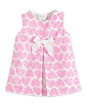 pink hearts baby dress