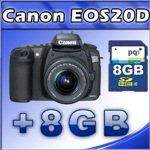 Canon EOS 20D 8.2MP Digital SLR Camera with EF-S 18-55mm f/3.5-5.6 Lens + 8GB SD Card (Electronics)  http://www.amazon.com/dp/B004HCKV5G/?tag=iphonreplacem-20  B004HCKV5G