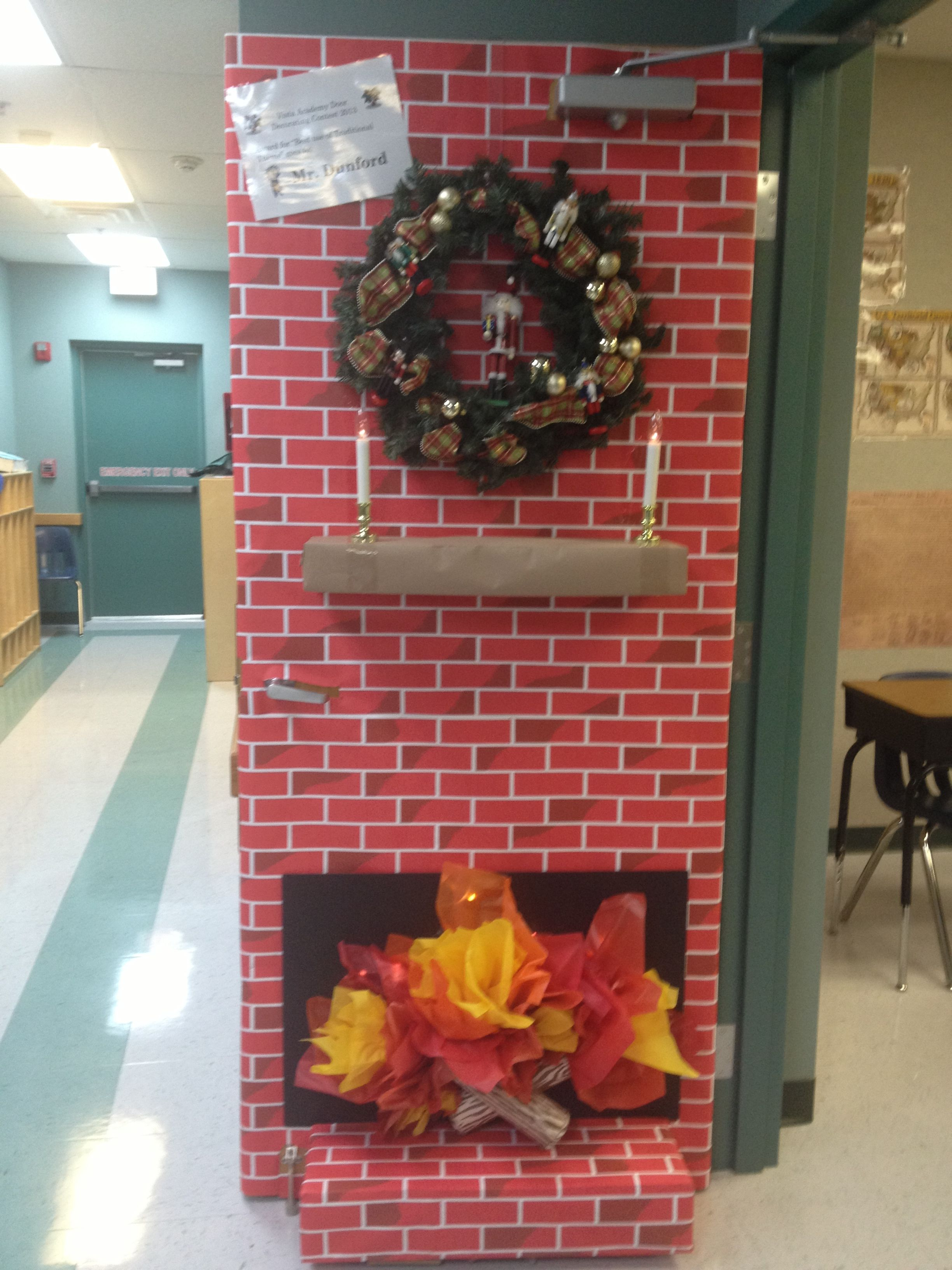 awesome 3D holiday door An Apple for the Teacher
