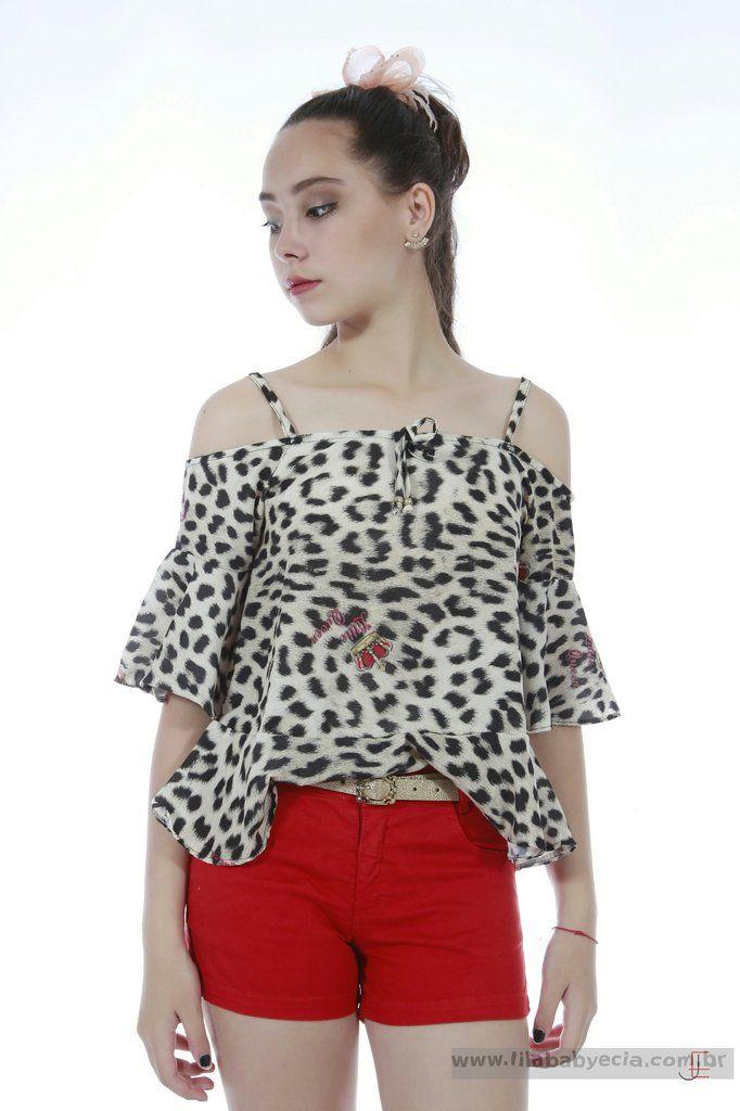 34261c9dae Veja nosso novo produto Conjunto Shorts e Blusa Diforini Moda Infanto  Juvenil 121268! Se gostar