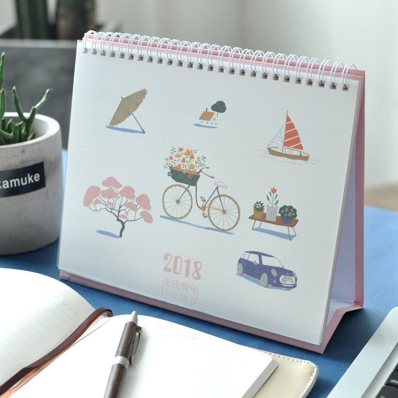 20177~201812 Simple Life Table Calendar Planner 2018 Agenda
