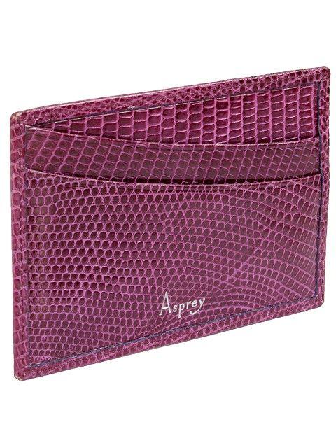 $94.95 - Asprey Accesories - Purple Lizard Slip Case Wallet