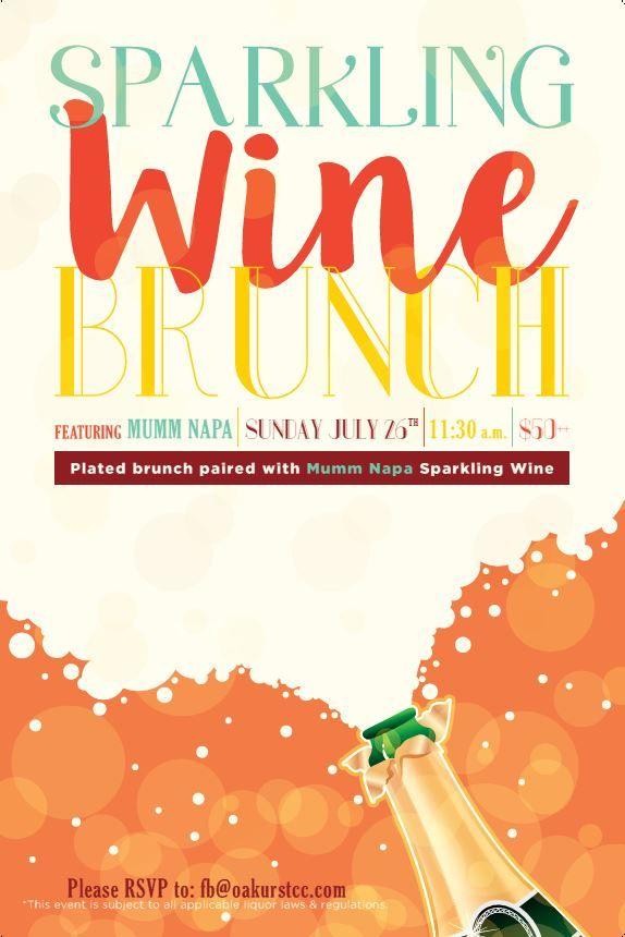 sparking wine champagne brunch flyer poster design template brunch