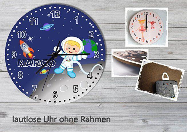 Kinder Wanduhr Kinderuhr Kinderzimmer Uhr mit Namen personalisiert ...