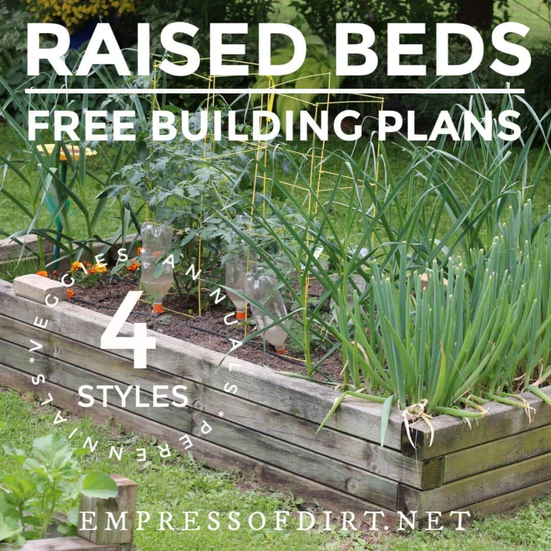 Raised Garden Bed Construction: Free Plans For Building Raised Garden Beds In 2020 (With