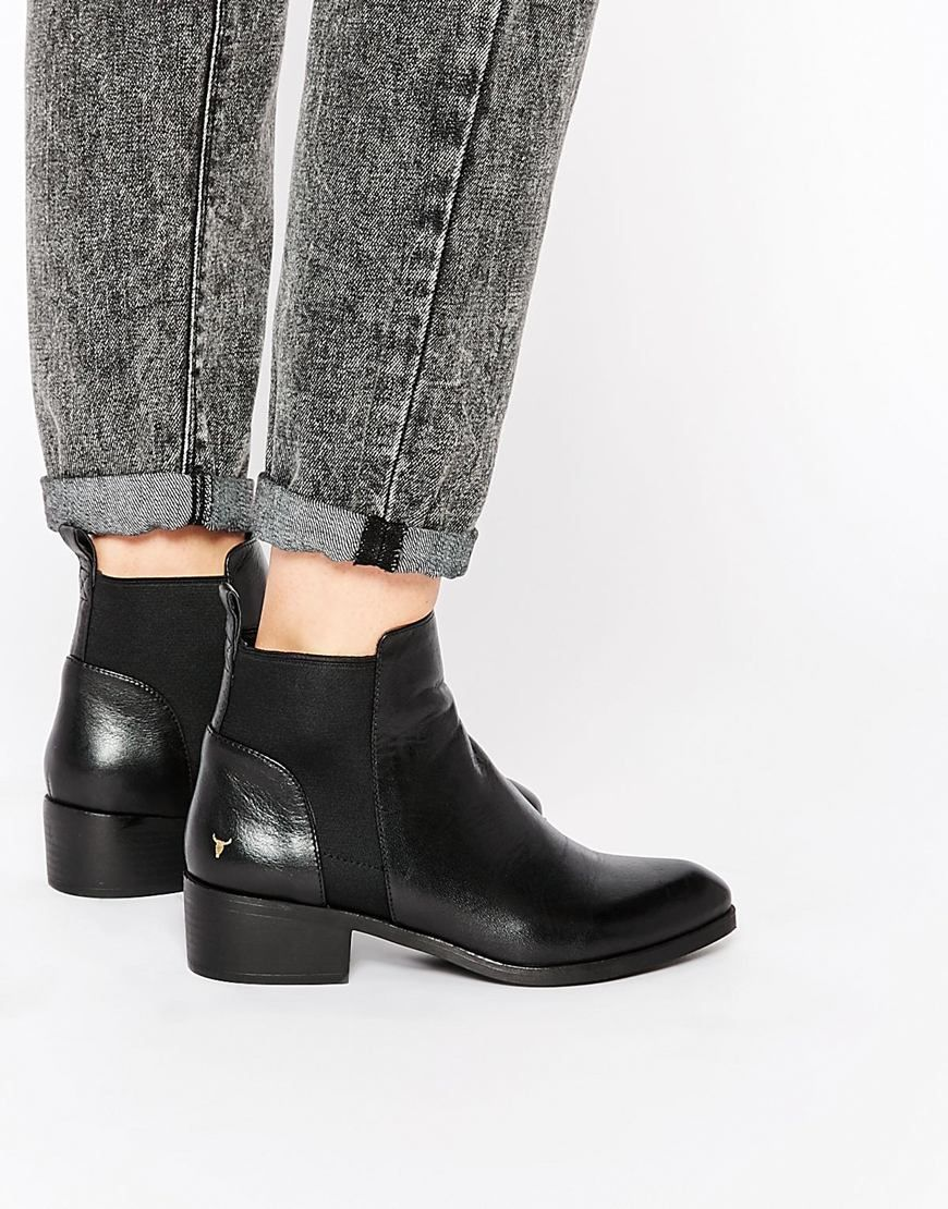 image 1 of windsor smith metz black leather ankle boots | want