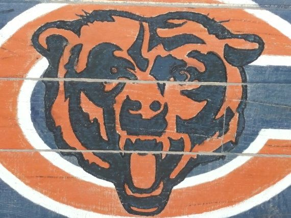 Chicago Bears Pallet Painting on Etsy, 40.00 Pallet