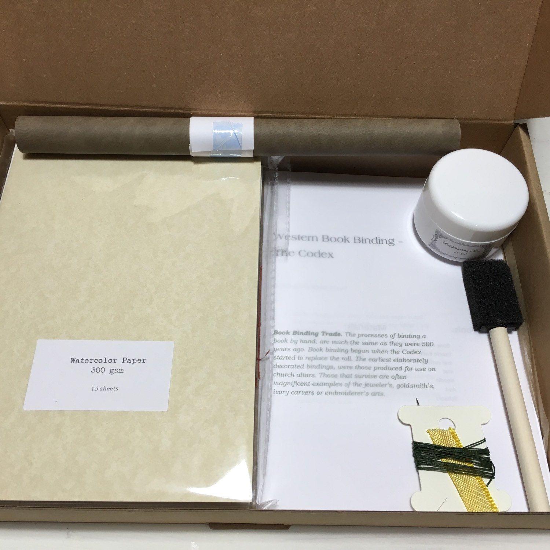 Bookbinding kit , DIY journal kit for a hardcover journal