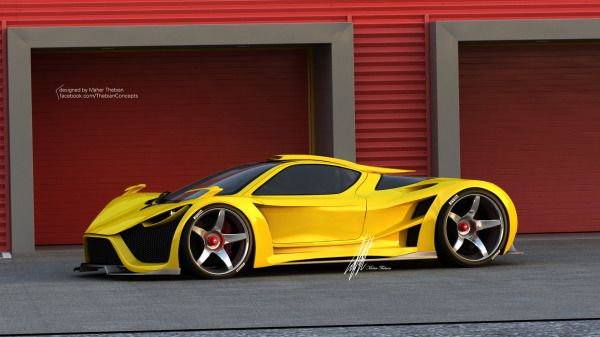 Beautiful Lamborghini Sinistro By Maher Thebian Nice Look