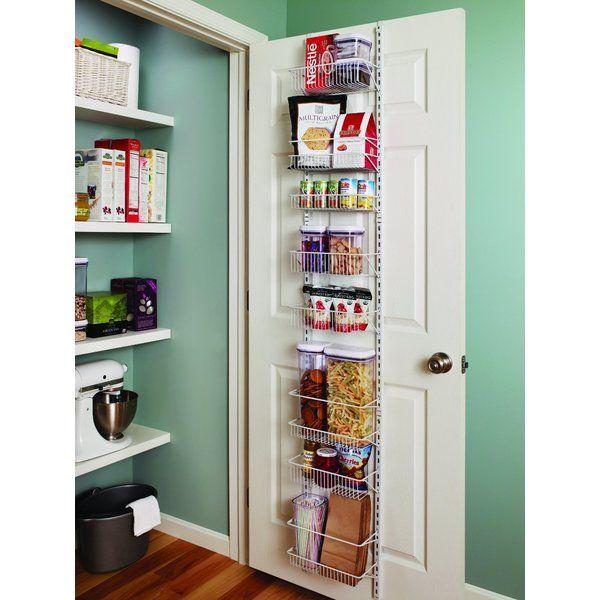 Adjustable Over the Door Storage Rack 8 Shelves Kitchen Pantry Food Organizer