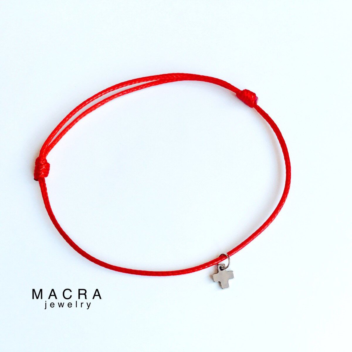 b285833248682f Red String bracelet with Stainless steel cross charm. Red String Kabbalah  bracelet. Red string. Lucky Charms. Unisex-Man ,Women,Baby.