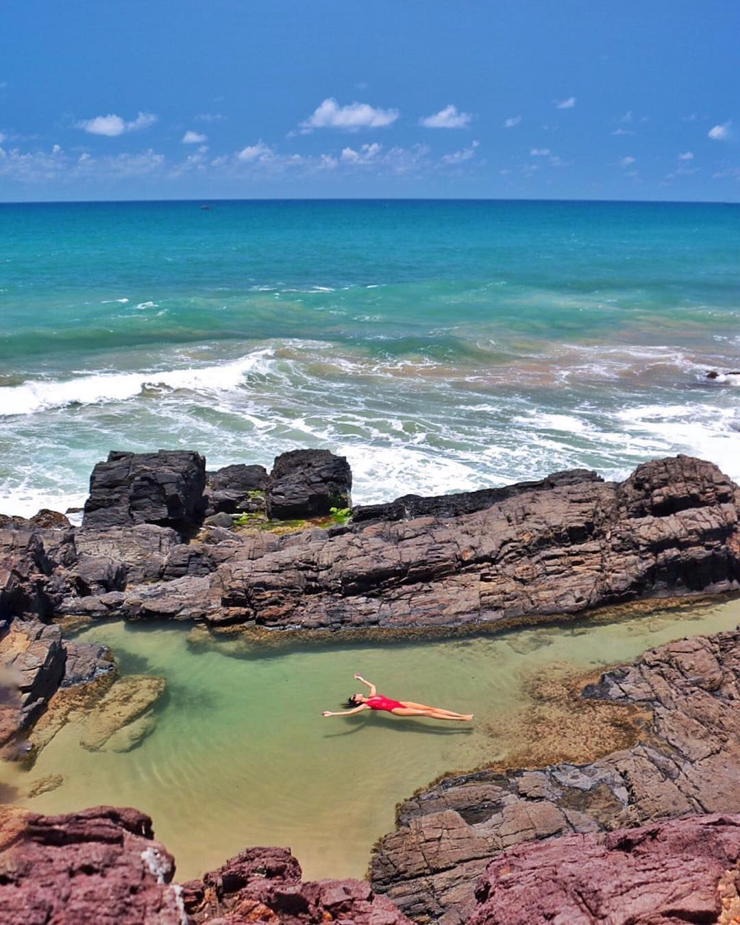 """Location: Natural Pools of Itacaré - Bahia, Brasil. Photo Credit: @giselacarvalho"""