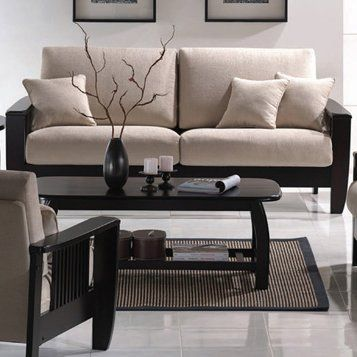 Wildon Home Mission Sofa In 2020 Sofa And Loveseat Set Mission Style Living Room Living Room Collections