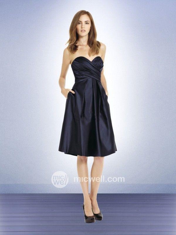 A-line Sweetheart Ruffles Sleeveless Knee-length Taffeta Bridesmaid Dresses / Cocktail Dresses / Homecoming Dresses (SZ0242457 ) - MicWell.com