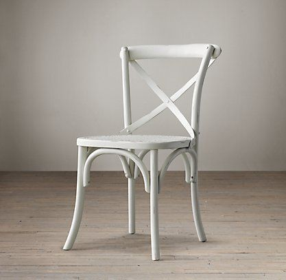 Madeline Side Chair White Restoration Hardware To Go With The Flatiron Dining Table A New