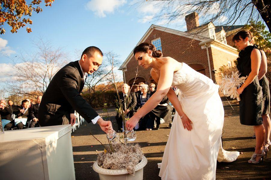 Tree Planting Wedding Ceremony 550x365 Unique Wedding Ceremony Ideas