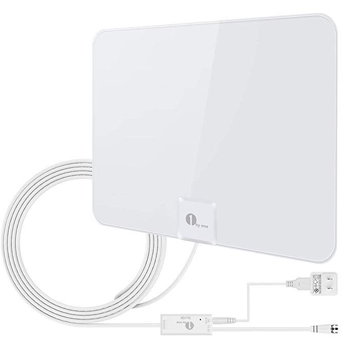 1byone 50 Miles Amplified Hdtv Antenna With Amplifier Booster Usb Power Supply To Boost Signal And 20ft Coaxial Cable Sh Outdoor Tv Antenna Tv Antenna Antenna