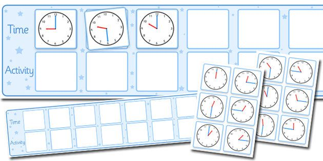 Visual Timetable Display With Clocks  Places To Visit