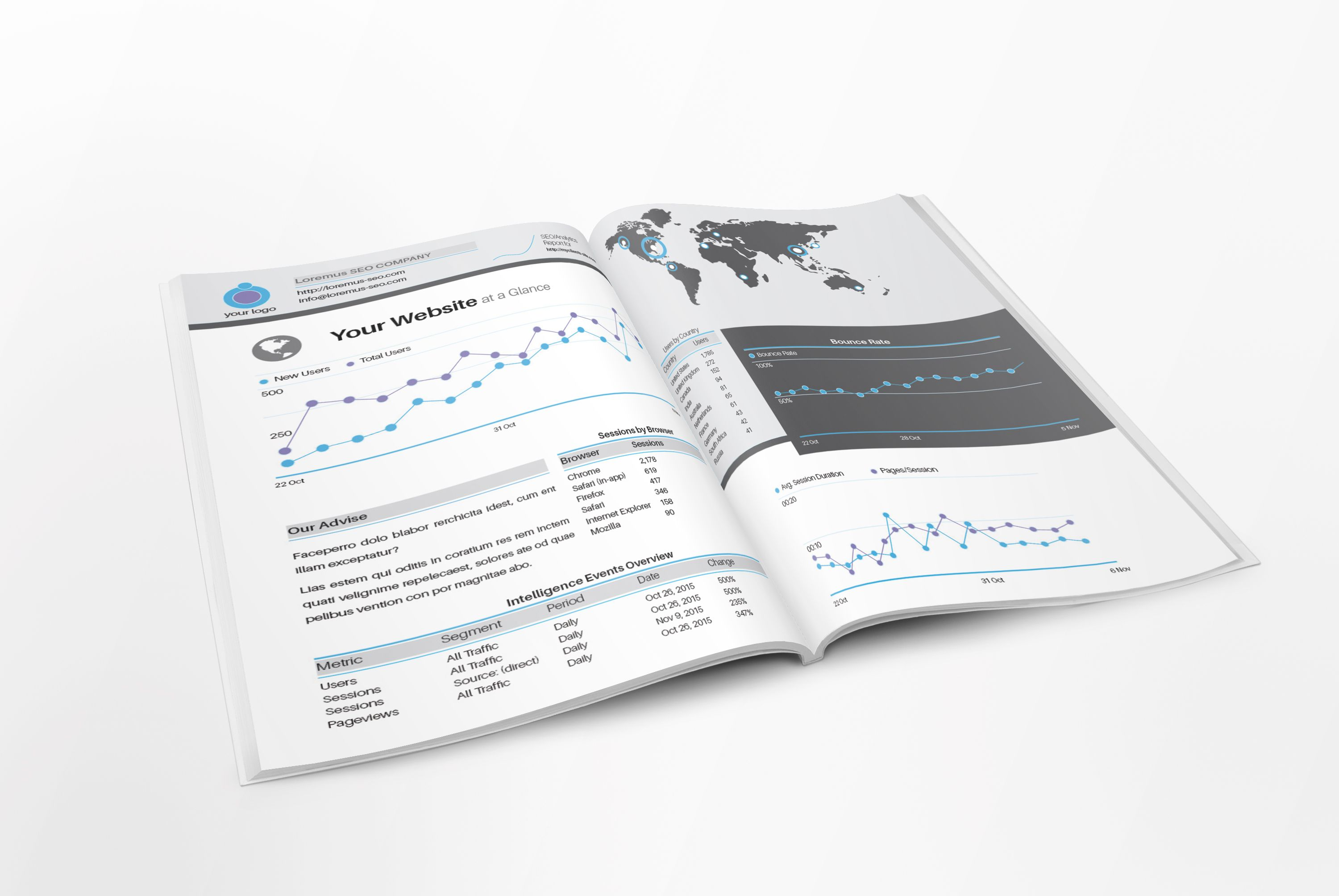 Seo Analytics Report  Proposal Template  Us  Design Haven