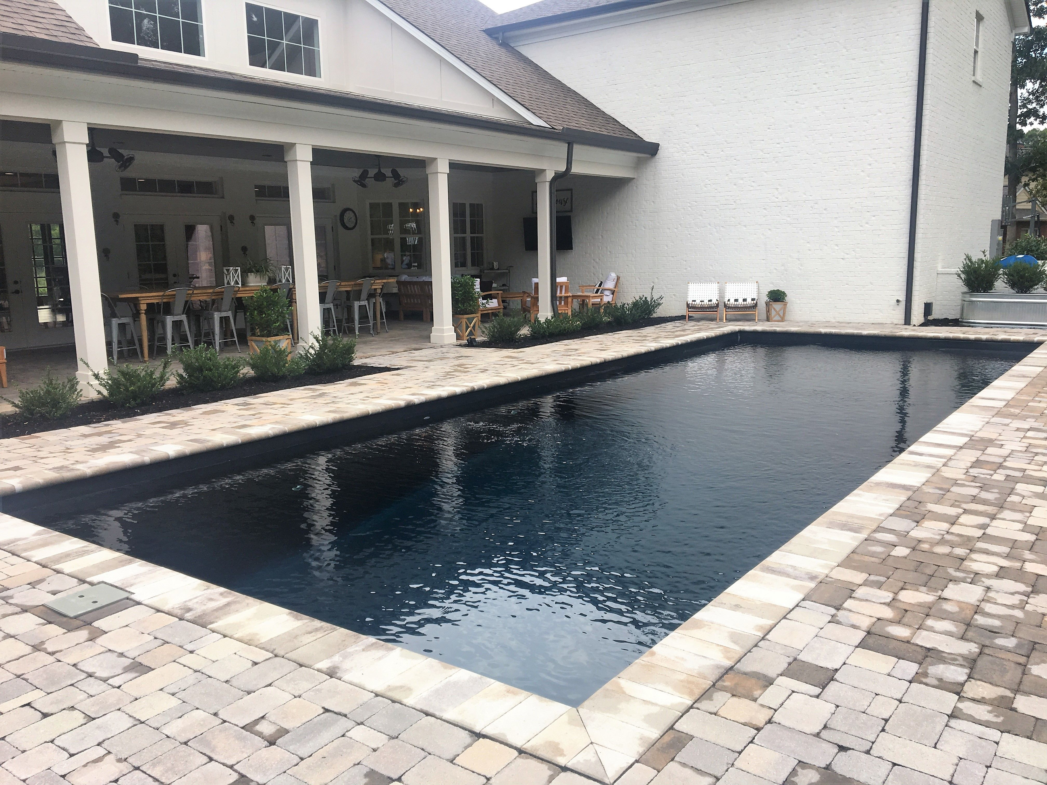 When M Squared Custom Homes Was Designing This Home They Felt That The Leisure Pools Infinity Comp Small Pool Design Fiberglass Swimming Pools Leisure Pools
