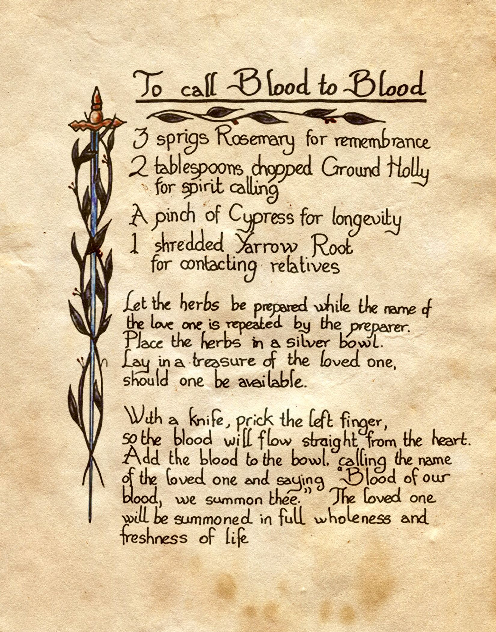 To Call Blood to Blood