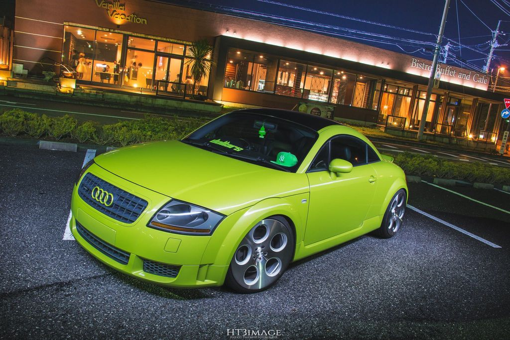 #Audi #TT #Modified #Lowered #Lime Green