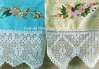 Barrados De Croche Para Toalha De Lavabo Crochet Edging Crochet