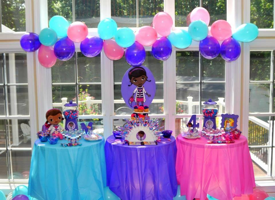 Doc Mcstuffins Table Set Up Doc Mcstuffins Party Ideas