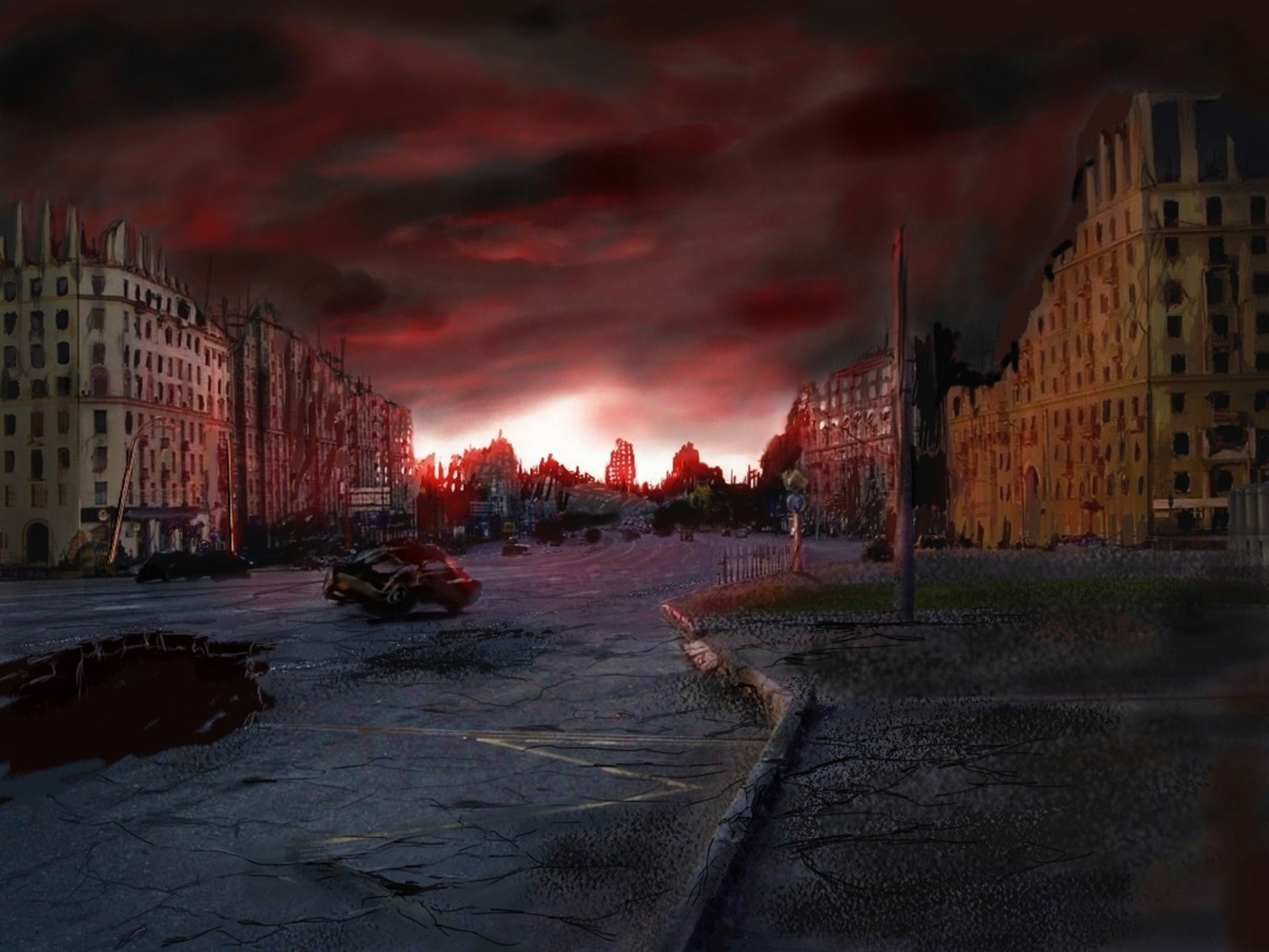 destroyed city on fire - Google Search   Architecture and ...