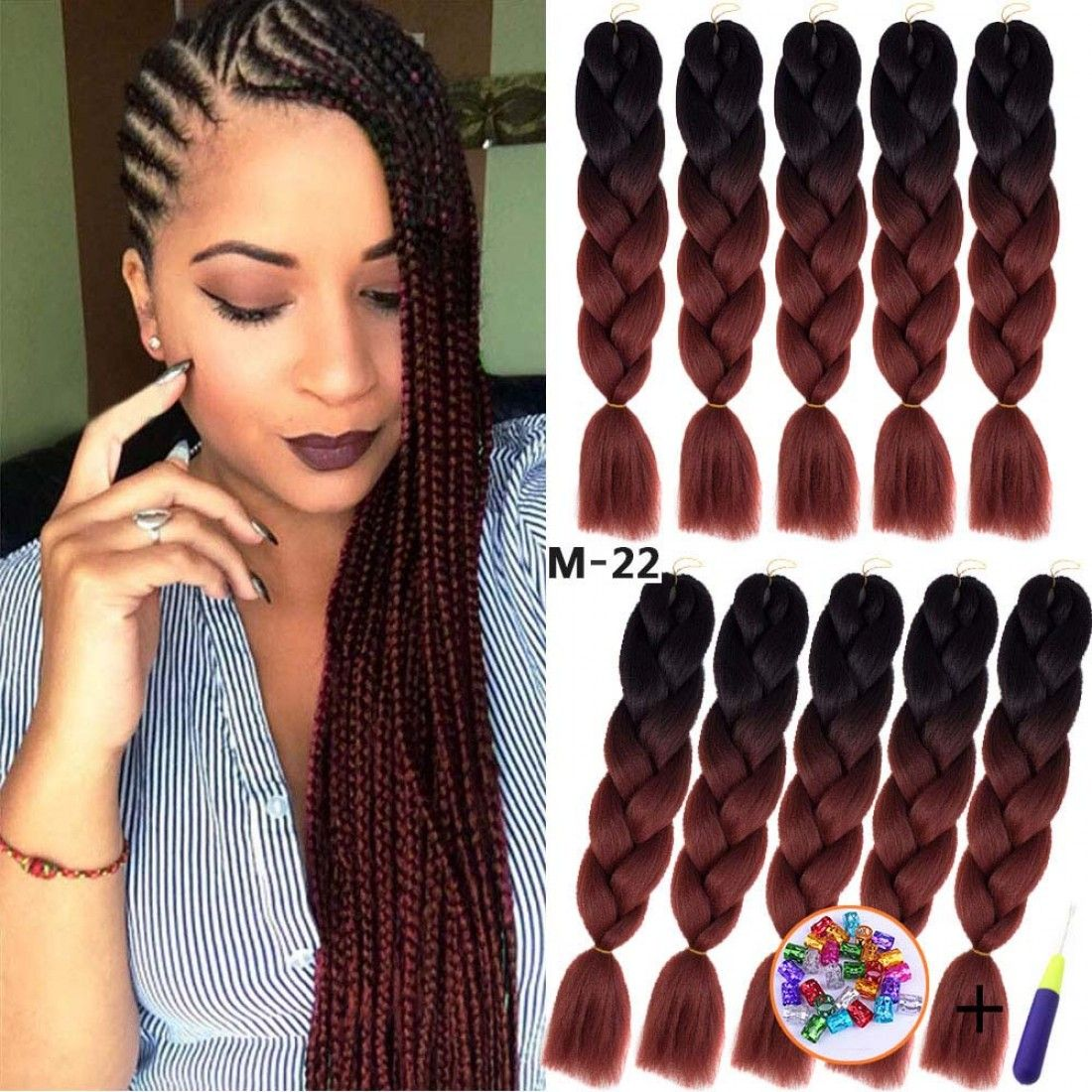 24 Inches Xpression Ombre Braiding Hair Braided Hairstyles Braiding Hair Colors Cool Braid Hairstyles