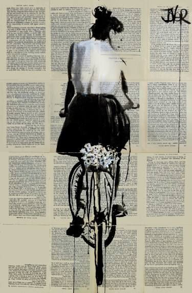 "Saatchi Art Artist Loui Jover; Drawing, ""sunday ride"" #art"