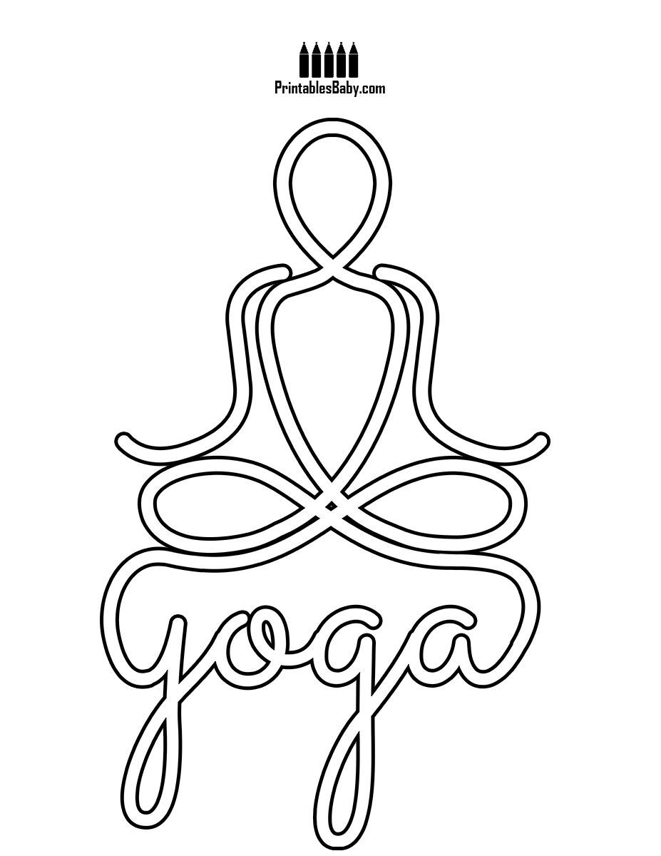 Namaste Yoga Symbol Printables Baby Free Printable Posters And Coloring Pages Yoga Symbols Yoga Day Namaste Yoga