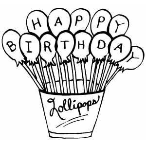 Happy Birthday Lollipops coloring page | Home Printed Colouring-in ...