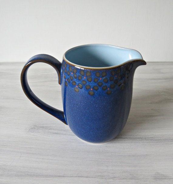 Vintage Denby Midnight Blue Milk/Water Jug - Denby - Vintage Denby - Midnight Denby