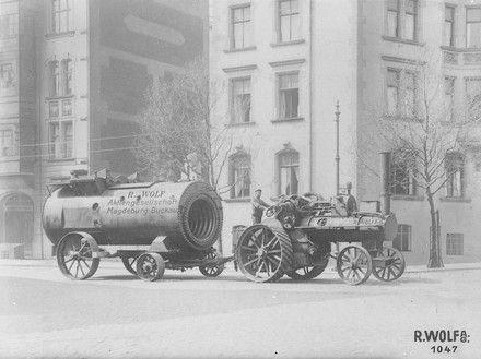 Transport des Kessels eines Heißdampf-Großlokomobils mittels einer ...