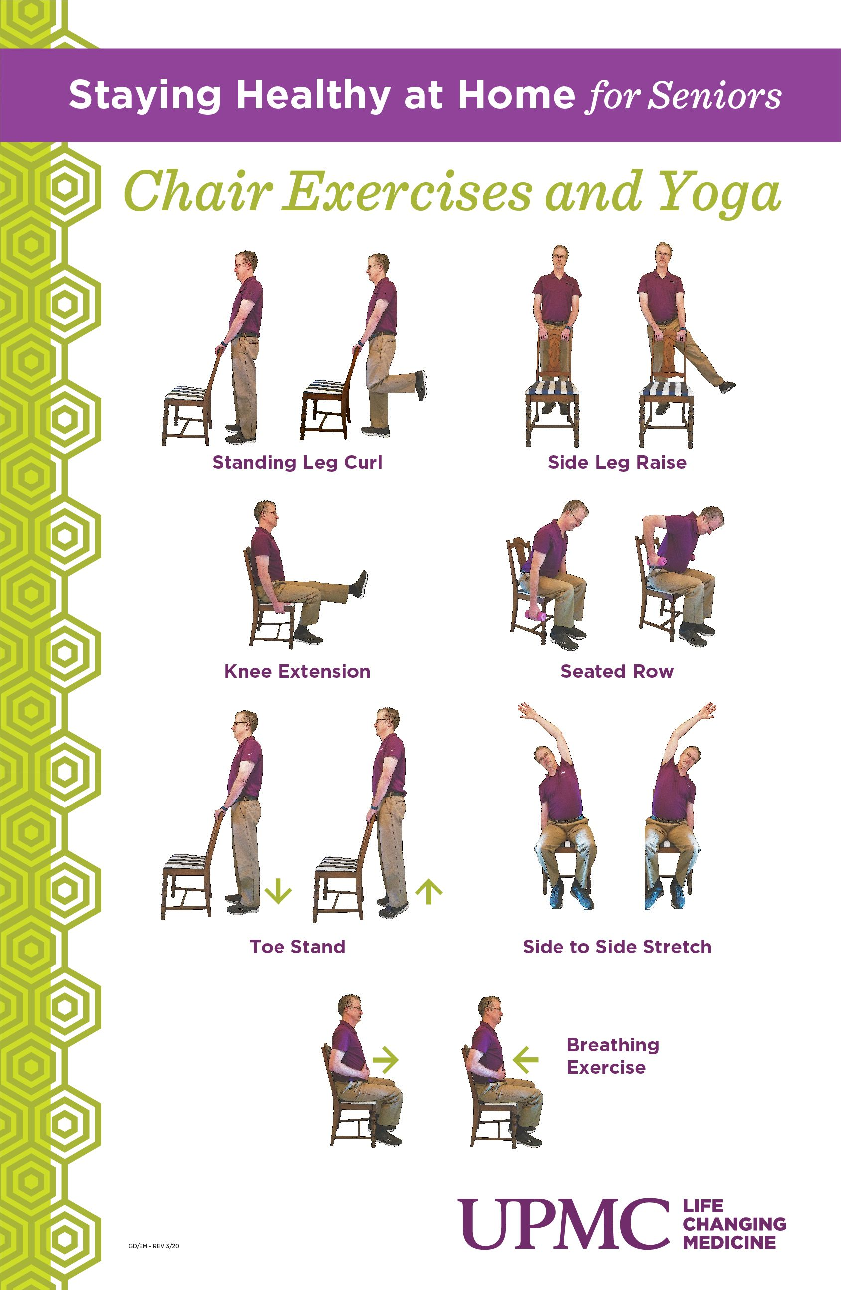 Staying Healthy At Home Seniors Chair Yoga In 2020 How To Stay Healthy Yoga Moves Chair Exercises
