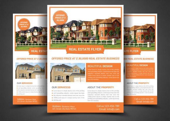 Real Estate Flyer Templates By AfzaalGraphics On Creativework - Real estate brochure templates free download