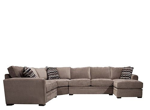 Peachy Artemis Ii 4 Pc Microfiber Sectional Sofa Home Grey Beatyapartments Chair Design Images Beatyapartmentscom