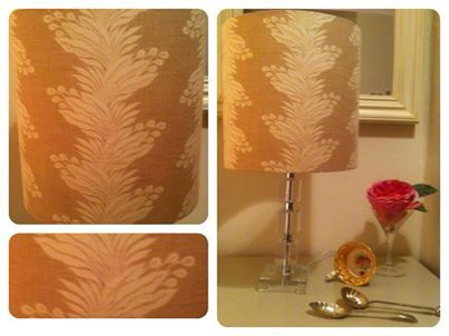Bespoke fabric lampshades from The Lighthouse - find them on Facebook.