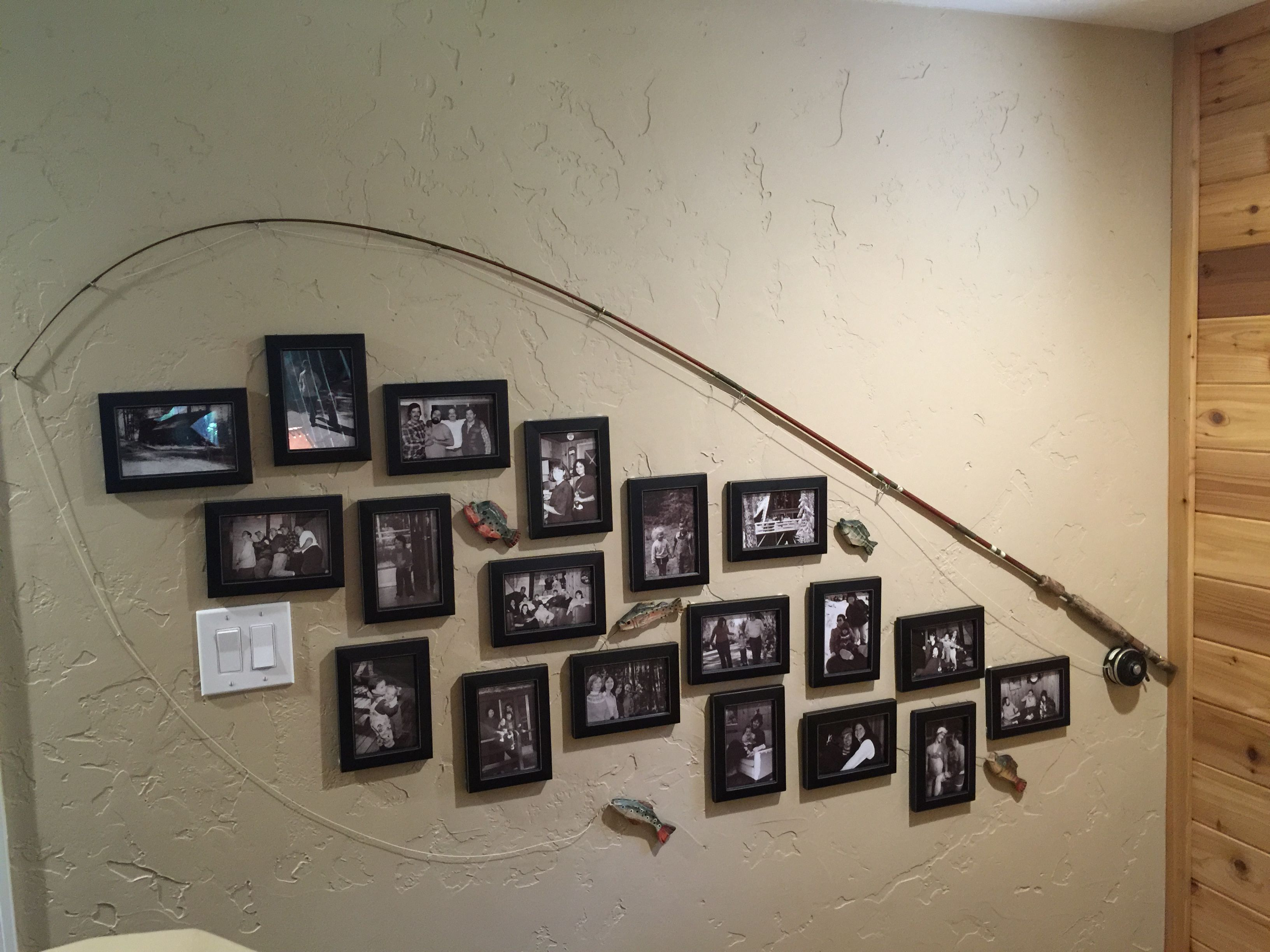 Fishing Pole Wall Collage Made This Last Weekend For A