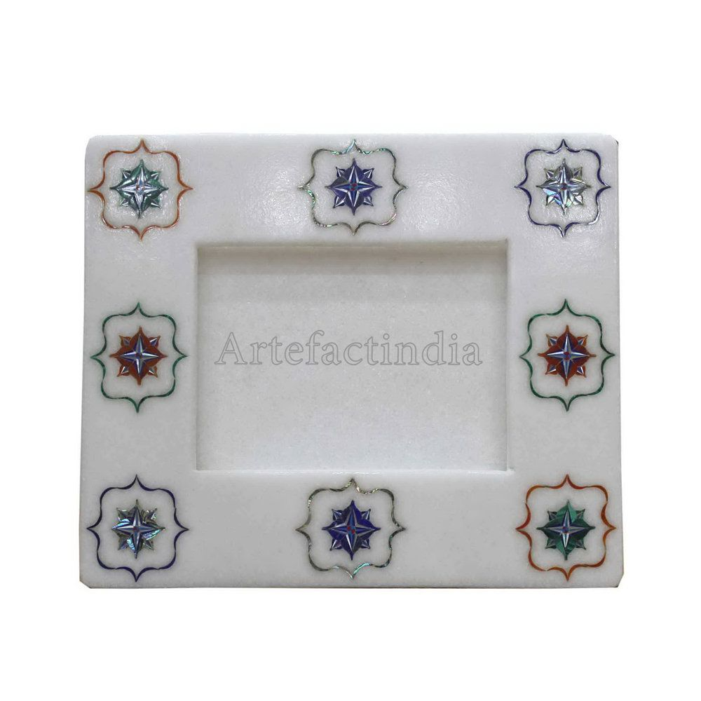 Marble Inlay Picture Frame Gift For Her